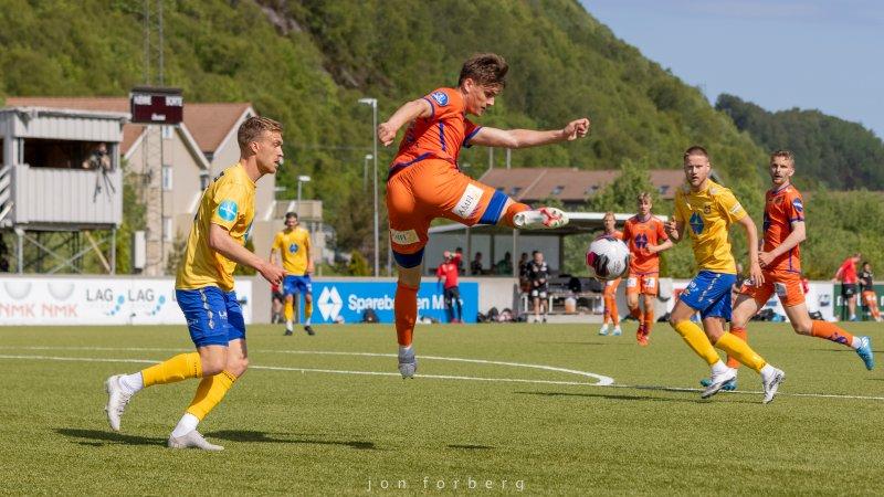 Sigurd Haugen under treningskampen mot Brattvåg tidligere i år.